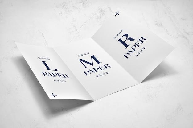 Mockup brochure a tre ante