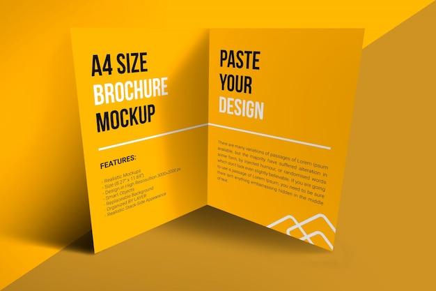 Mockup brochure a4