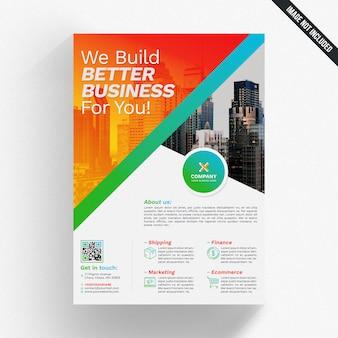 Mockup brochure aziendale colorato