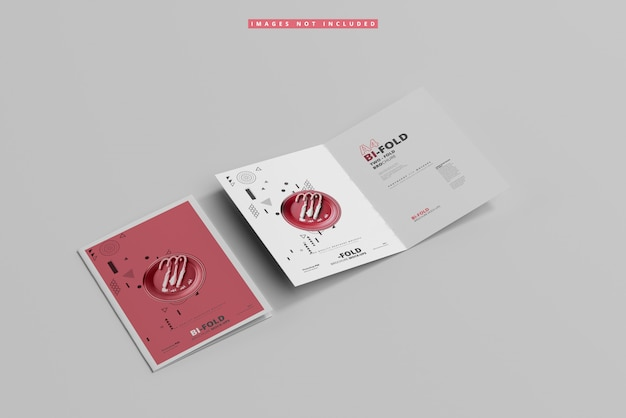 Mockup brochure pieghevole a4