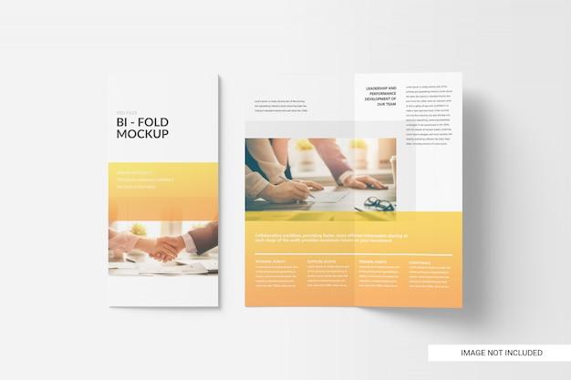 Mockup brochure pieghevole