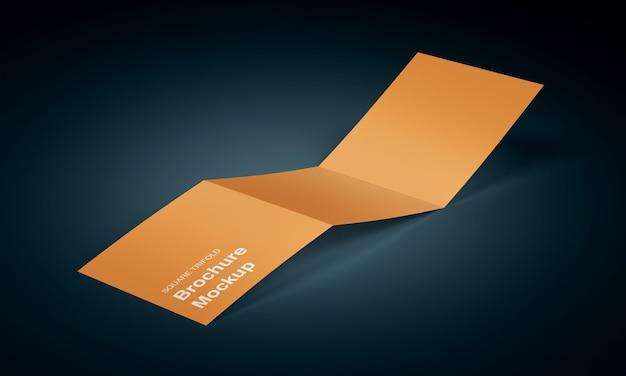 Mockup brochure quadrata a tre ante