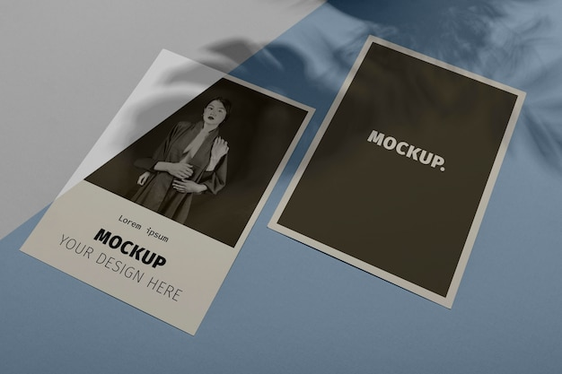 Mockup brochure schaduw overlay