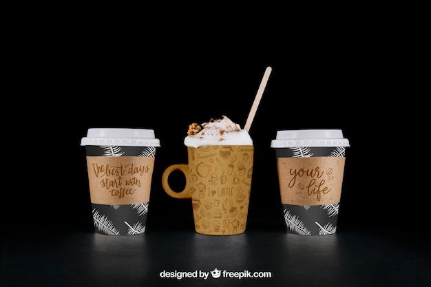 Mockup de café para llevar