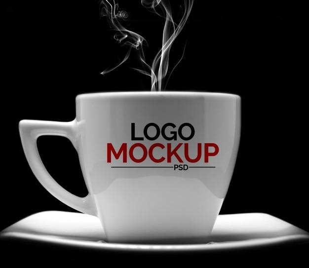 Mockup de café para logotipo