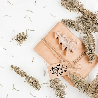Mockup de caja de regalo artesano