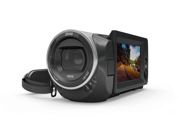 Mockup de cámara de vídeo