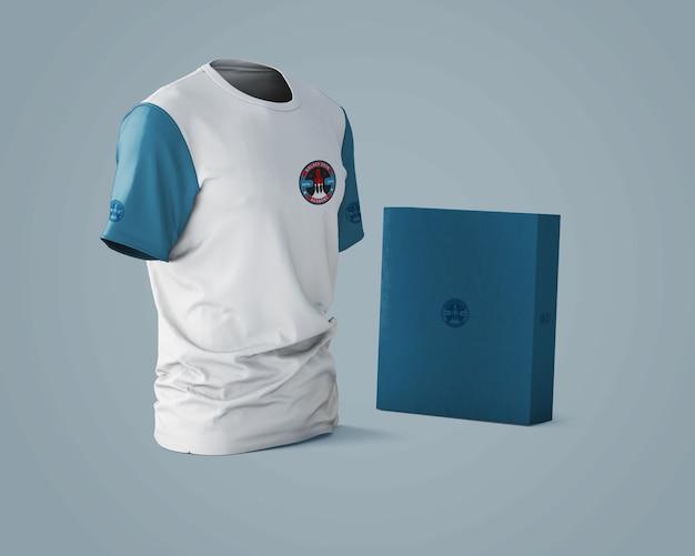 Mockup de camiseta deportiva con logotipo