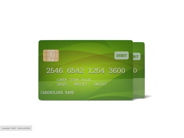 Mockup carta di credito / banca