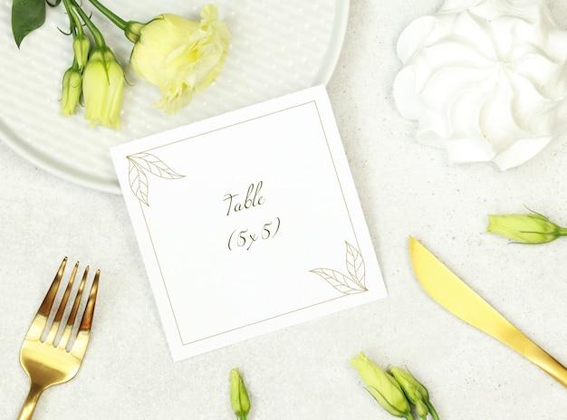 Mockup carta di nozze