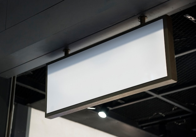 Mockup cartellone bianco