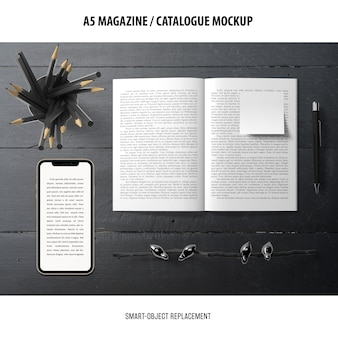 Mockup catalogo rivista
