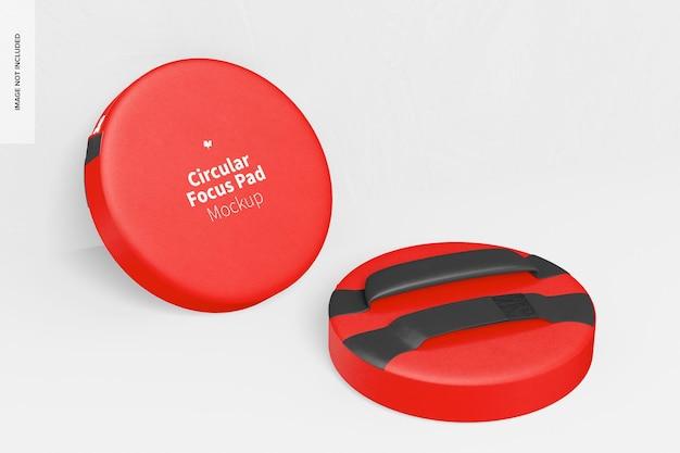 Mockup cirkelvormig focuspad, leunend