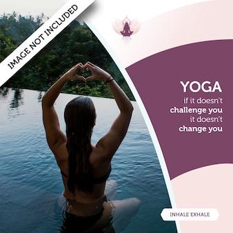 Mockup con concepto de yoga con mujer en agua