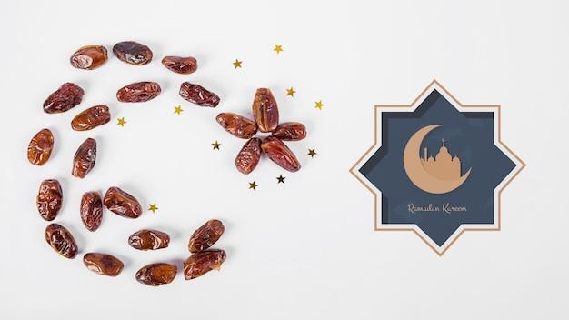 Mockup con il concetto di ramadan