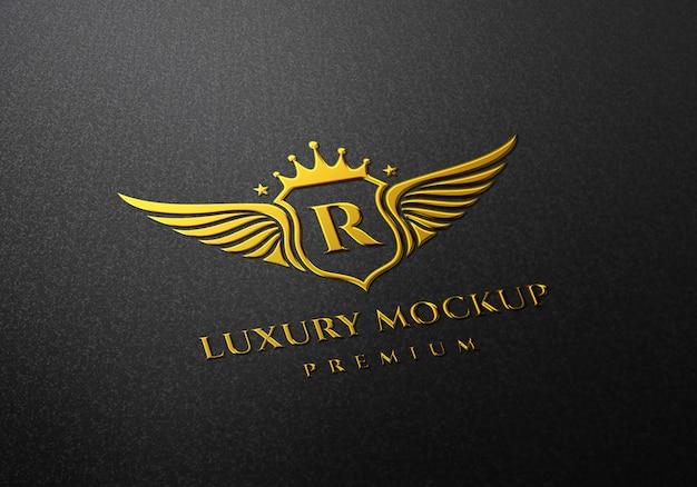 Mockup con logo dorato