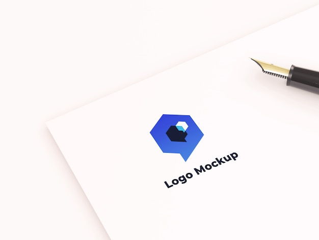 Mockup con logo in carta
