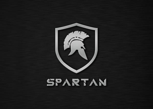 Mockup con logo spartan metal