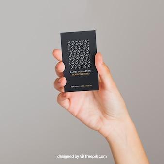 Mockup concept van donker visitekaartje