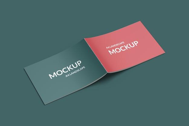 Mockup copertina orizzontale a4