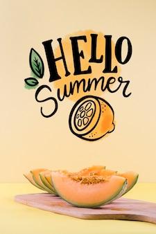 Mockup de copyspace para conceptos de verano