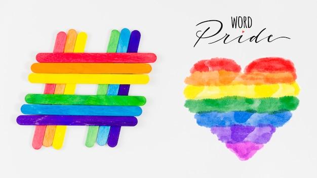Mockup de copyspace para el día del orgullo lgbt