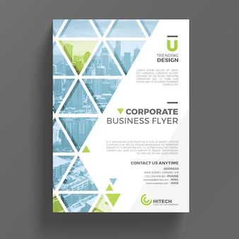 Mockup corporativo de flyer