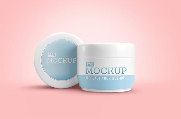 Mockup cosmetico di barattolo di crema