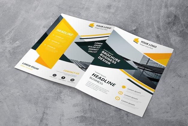 Mockup de cover de folleto
