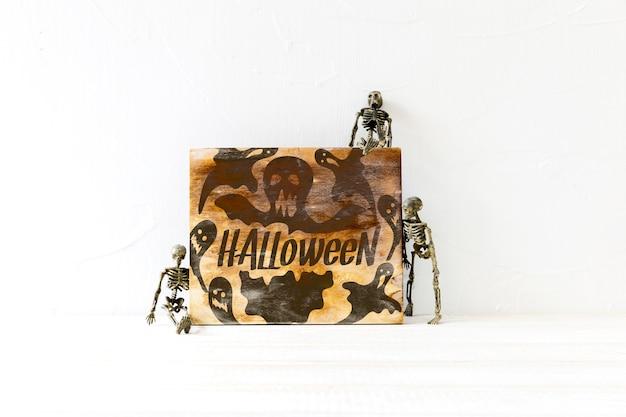 Mockup de cover de halloween en estilo viejo