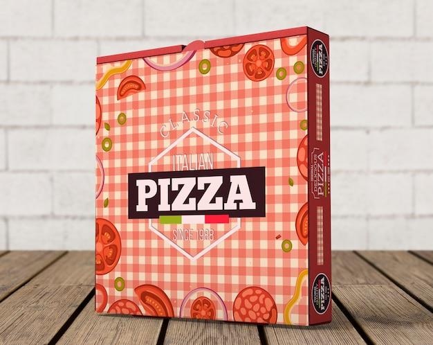 Mockup creativo de caja de pizza