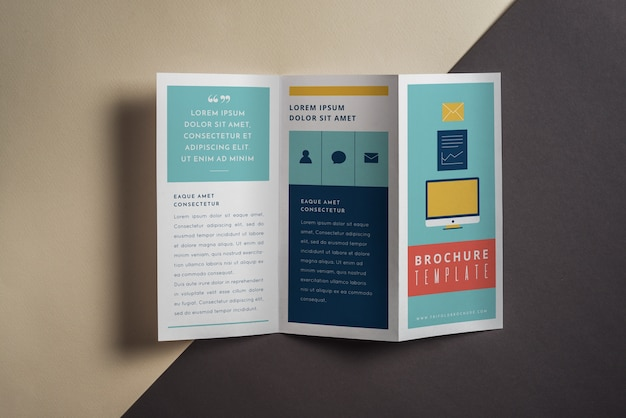 Mockup creativo de folleto tríptico