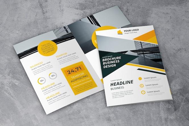 Mockup creativo de folleto