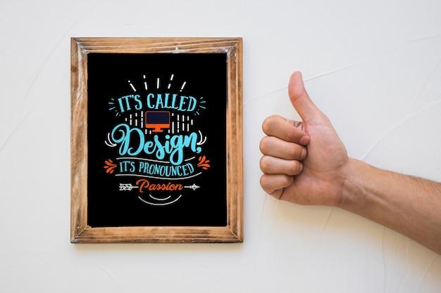 Mockup creativo de marco con concepto de cita