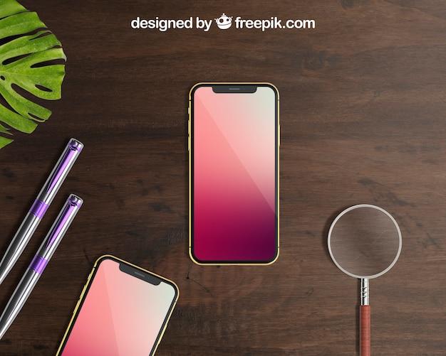 Mockup creativo de smartphone
