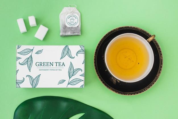 Mockup creativo de té