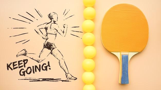 Mockup creativo de tenis de mesa