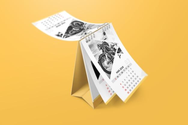 Mockup de calendario creativo