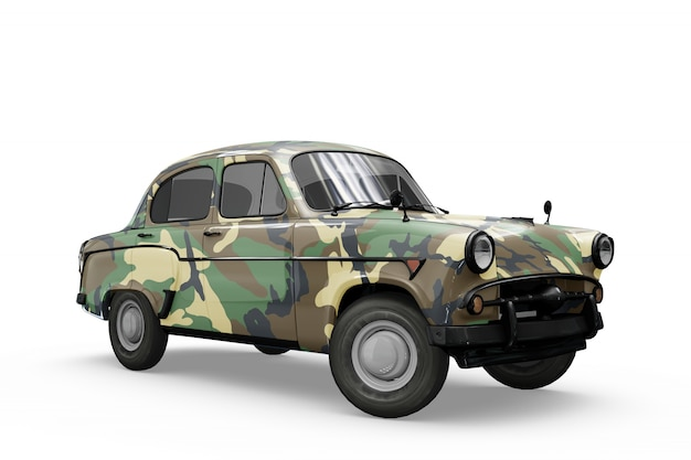 Mockup de coche vintage