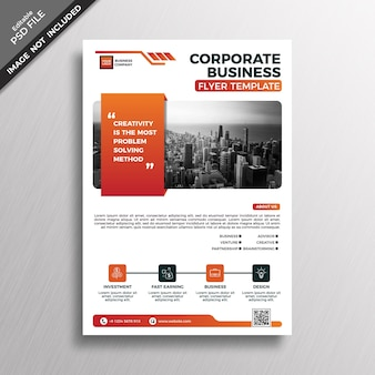 Mockup de cover de folleto corporativo de negocios