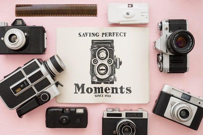 Mockup de folleto con concepto de fotografía
