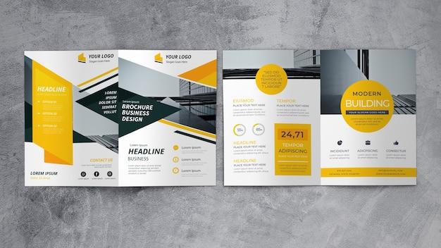 Mockup de folleto de negocios abstracto