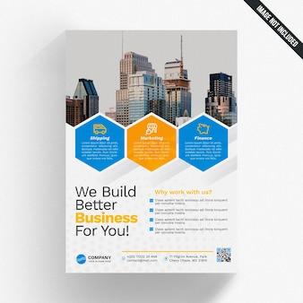 Mockup de folleto de negocios creativo