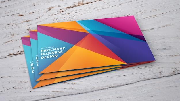Mockup de folletos en montón