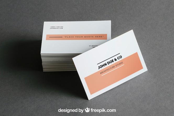 Mockup de montón de tarjetas de visita