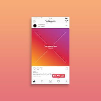 Mockup de post de instagram