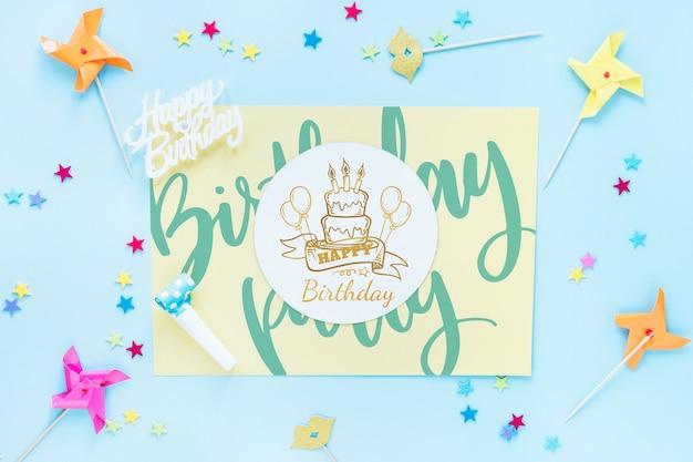 Mockup de tarjeta de cumpleaños