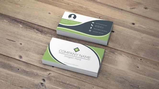 Mockup de tarjetas de visita en estilo eco