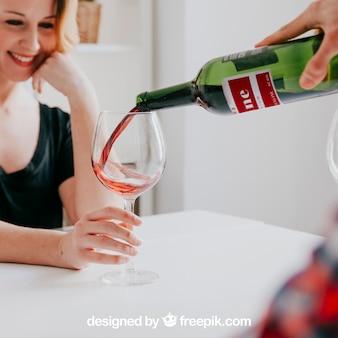 Mockup de vino