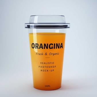 Mockup de zumo de naranja